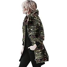 Abrigo de Camuflaje, Longra ❤️ Las mujeres nuevo estilo camuflaje capa de la chaqueta del otoño de la calle del invierno de la chaqueta de las mujeres chaquetas casuales