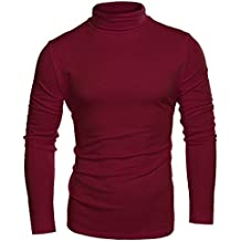 Coofandy Men's Turtleneck Roll Neck Polo Necks Slim Fit Pullover Sweaters