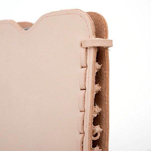 Kroo Étui ultra fin en cuir véritable pour téléphone portable Blu Life Play X/Studio Mini LTE Marron - peau Marron - peau