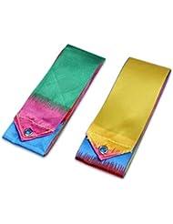 2 Pcs Gimnasio cinta Danza Arte Gimnasia Ballet Streamer giro de Rod del palillo colorido
