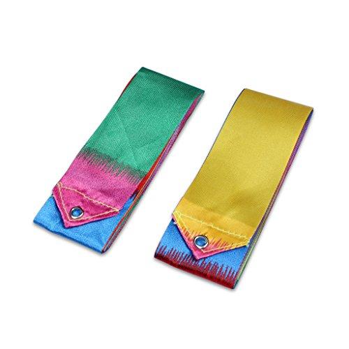 Ewin24 2 Pcs Gym Danse Ruban Gymnastique Art Ballet Streamer Twirling bâton Rod Colorful