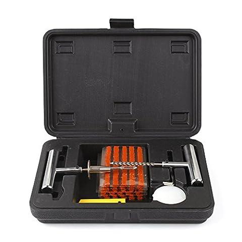 MVPower® Reifen-Reparatur-Set 36tlg Flicken Satz Auto Reifen Pannenset Flickzeug Werkzeug Koffer