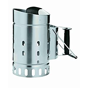 Rösle 25039 Charcoal Starter, Stainless Steel, 33.5×18.7×33 cm