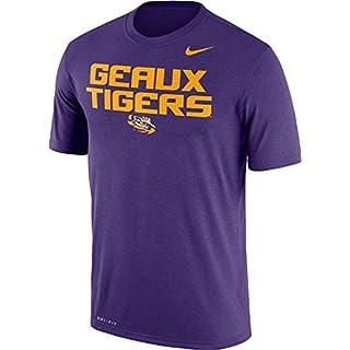 Nike Men's LSU Tigers Purple 'Geaux Tigers' Authentic Local Legend T-Shirt (L)
