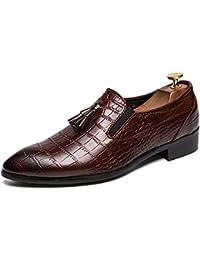 Ruanyi Mocassini da Uomo Business alla Moda Oxford alla Moda Uomo  Confortevole Stampa Coccodrillo con Nappa 6275234672b
