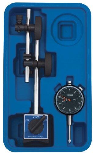 Fowler Volle Garantie 52-520-199-0Magnetischer Basis Und Schwarz Gesicht Indikator mit fein justieren, 0-2,5cm Messbereich, 0cm Graduation Intervall