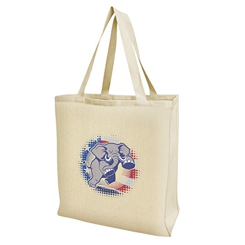 Angry Republikanischen Elefant Politik GOP American Flagge Lebensmittels Reise wiederverwendbar Tasche–Groß (Gop-elefant)