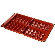 Silikomart 26.155.00.0060 - SF155 Molde de silicona forma Gofre de tamaño Grande 4 cavidades