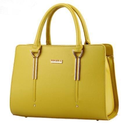 LDMB Damen-handtaschen Süße Lady Fashion Schulter Messenger Tasche Yellow