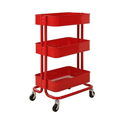 CHDE Regal Trolley - Beauty Salon Kinderwagen Schönheit Ausrüstung Warenkorb Barber Shop Rack Friseur Werkzeugwagen Werkzeugwagen (Color : A, Size : 45 * 35 * 78cm) -