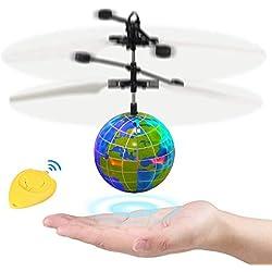 Innootoys RC Juguetes de Bola Voladora,Drone Helicóptero,Bola de Vuelo con Luz LED Parpadeante,Inducción de Detección Infrarroja,Regalos para Niños,Adolescentes en Cumpleaños