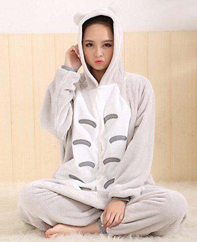 Imagen de tonwhar® totoro kigurumi pijamas para adultos de animación anime cosplay disfraz de halloween alternativa