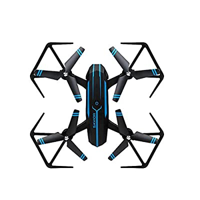 Springdoit Quadcopter remote control aircraft folding toy aircraft 4-channel 6-axis gyroscope wireless height maintenance drone toy -> blue
