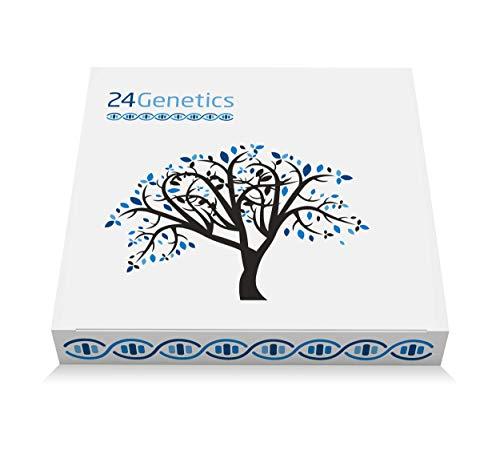 24Genetics 6-in-1-DNA-Test für Ancestry, Gesundheit, Nutrigenetik, Pharmakogenomik, Hautpflege und Sport. 400 einzigartige genetische Merkmale - Berichte in deutscher Sprache