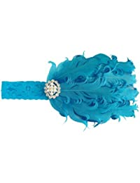 NeedyBee Headband for Newborn/Girls/kids/children with Rhinestone (Kids Hair Accessories) (Blue)