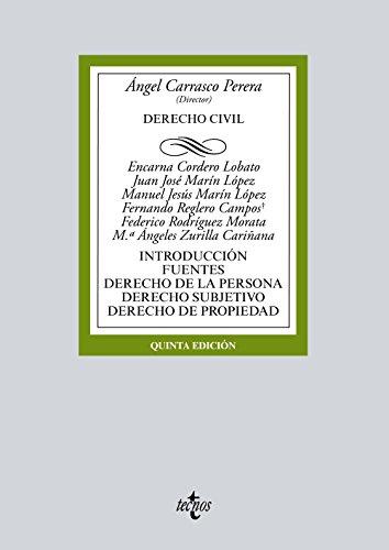 Portada del libro Derecho Civil: Introducción. Fuentes. Derecho de la persona. Derecho subjetivo. Derecho de propiedad (Derecho - Biblioteca Universitaria De Editorial Tecnos)