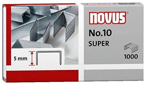 10er Pack Novus Heftklammer No.10, 1000er Päckchen für ür B 10 FC, 10 FC Professional, 10 Professional, 100EL, 10EL (10, 1000er Päckchen | No. 10 super)