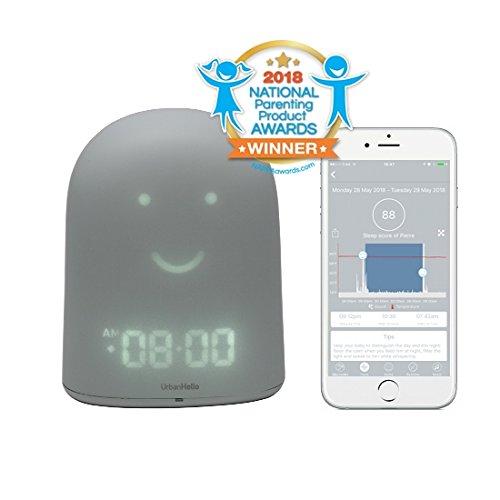 UrbanHello REMI - Reveil Enfant Jour Nuit educatif, Sleep Trainer 5-en-1 - Suivi du Sommeil - Babyphone Audio avec...