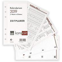bsb Kalendereinlage ca. A6 16,8x9,5cm Timereinlage für Zeitplaner Pocket 1 Woche auf 2 Seiten