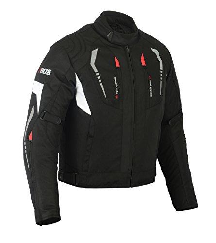 MOTORRADKOMBI JACKE + HOSE - AUS TEXTIL /CORDURA für Motorrad Biker Chopper Cross (XL, WEISS)
