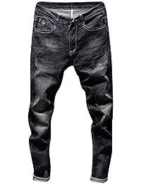 abf6b63d1f43 Celucke Slim Fit Jeans Herren Vintage Stretch Jeanshosen, Männer Skinny  Denim Hosen Basic Röhrenjeans