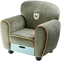 Preisvergleich für ALUK- small stool Kinder-kleines Sofa, einfacher moderner Sitz, Kinderraum-Lesestuhl, Lagerung einzelnes kleines Sofa-bequemes helles Mini Sofa L60cm * W40cm * H60cm