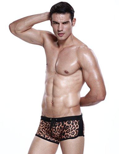 SEOBEAN Herren Badehose schwimmen Bademode Boxer Slip Trunk Badeshorts 2459