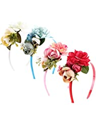 6859f92fde20cf Gazechimp 4 Stück Damen Bohemia Blüten Blumen Haarband Stirnband Haarreif  Haarschmuck Kopfschmuck Hochzeit Party.