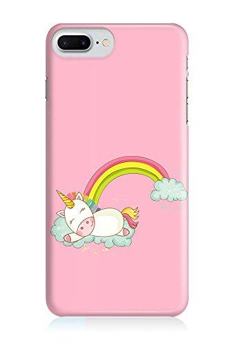 COVER Einhorn Unicorn Comic Cartoon Regenbogen Schlafen Design Handy Hülle Case 3D-Druck Top-Qualität kratzfest Apple iPhone 7 Plus