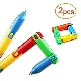 lezed monouso pieghevole di penna a sfera, penna a sfera, Bending Deformazione Pen, pieghevole fine deformazione penna a sfera, Ball Point Pen (2PCS)