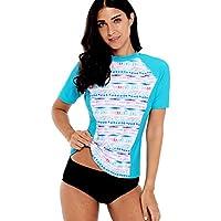Schwimmen Sommer Badeshirt Damen Sportbekleidung Charmo
