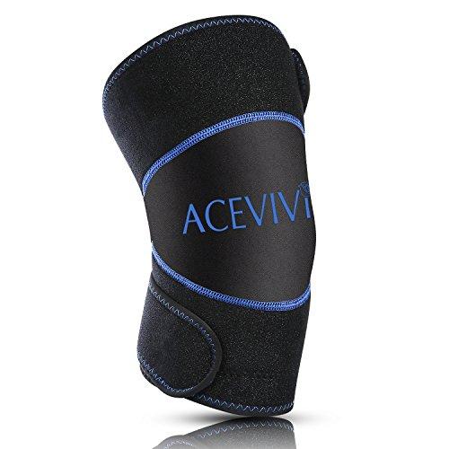 Guisee Paquete de hielo para rodilla, rodilla apoyo Brace con Gel Pad para caliente y frío terapia - Lavable y Reutilizable