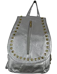 Einkaufszauber - Bolso mochila  para mujer plateado plata