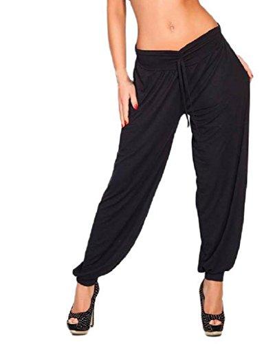 Top Donna Store sexy Harem Ali Baba Pantaloni Aladdin larghi dimensioni da 8a 16 Black M Lungo