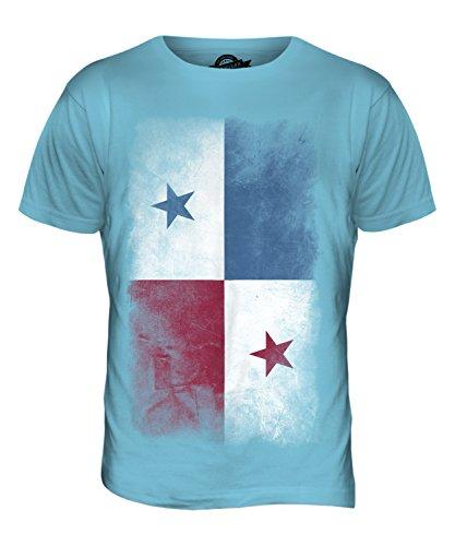 CandyMix Panama Verblichen Flagge Herren T Shirt Himmelblau