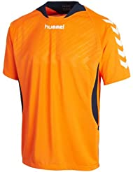 Hummel Team Player - Camiseta de equipo infantil, color naranja (shocking orange), talla 14 - 16 ( 164 - 176 )