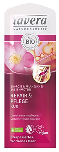 lavera Haar Kur Repair & Pflege Rose ∙ Trockene und strapazierte Haare ∙ vegan ✔ Bio Haarkur ✔ Natural & innovative Hair Care ✔ Naturkosmetik ✔ Haarpflege 10er Pack (10 x 20 ml)