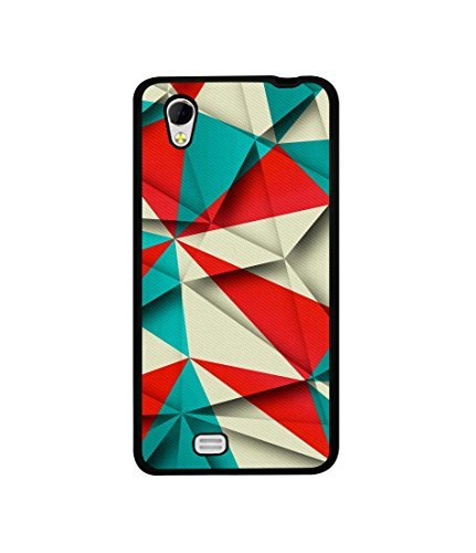 Casotec Red Blue White Pattern Design Canvas Printed Soft TPU Back Case Cover for Gionee Ctrl V4s  available at amazon for Rs.349