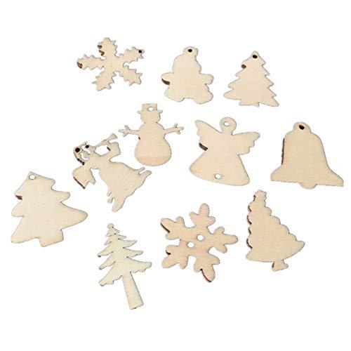 Linerow decorazioni natalizie alberi di natale artificiali 50 trucioli di legno ecologici lucidati 30mm
