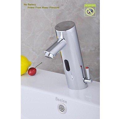 Miaoge contemporain de salle de bain Finition chromée robinet lavabo avec capteur automatique sans batterie (chaud et froid)