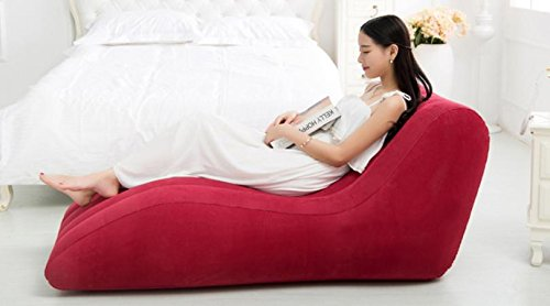 ASZLL Faule Menschen kreative Freizeitspaß Stühle plus s-Siesta Sofastühle, aufblasbare Sofa, aufblasbares Sofa Bett - 3
