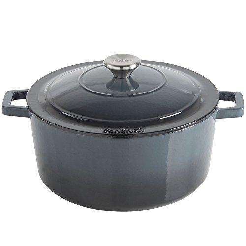vonshef-45l-graduated-grey-enamel-coated-round-cast-iron-casserole-dish