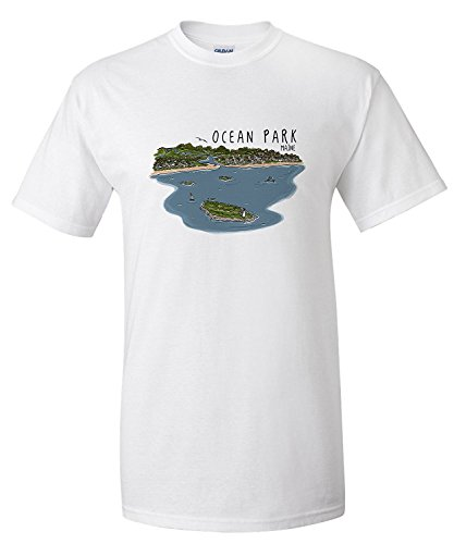 ocean-park-maine-line-drawing-premium-t-shirt