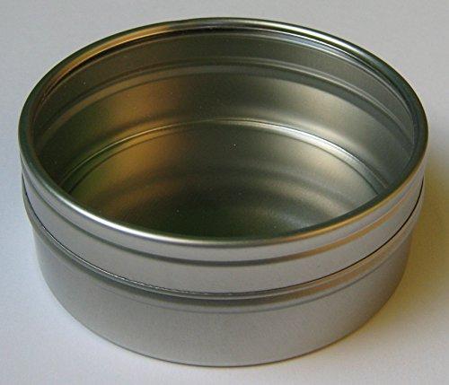 Kronenberg24 runde Metalldosen 80x28mm Blechdosen mit Fenster 10 Stück Packung