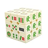 zhouye Tercer Orden Cubo de Mahjong Rubik Gorrión Blanco 3 Orden Pegatinas de Colores Especiales para niños Adultos Adultos Puzzle Juguetes