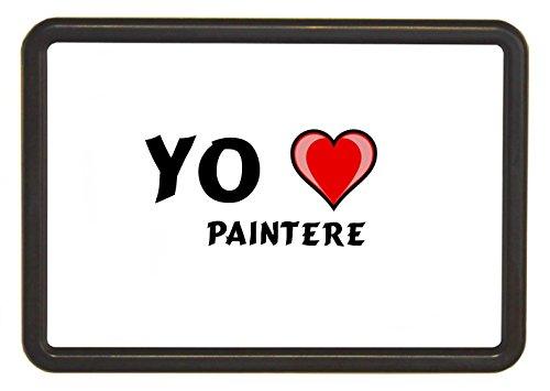 Marco de foto de imán con imagen cambiado con papel insertado: I love Paintere (nombre de pila/apellido/apodo)