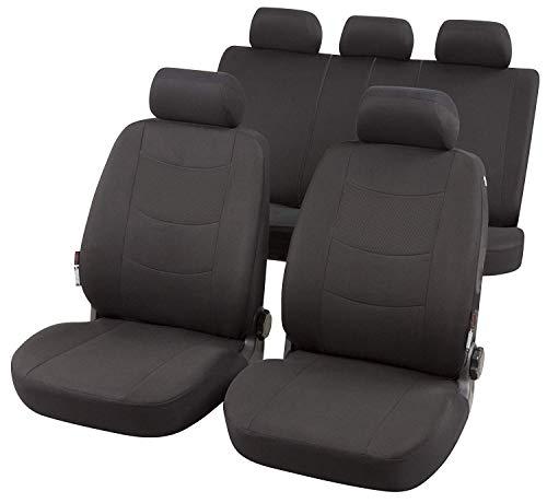 RMG R01BV197 coprisedili compatibili per Qashqai+2 Fodere Auto R01 Neri Grigi per sedili con airbag braciolo e sedili sdoppiabili