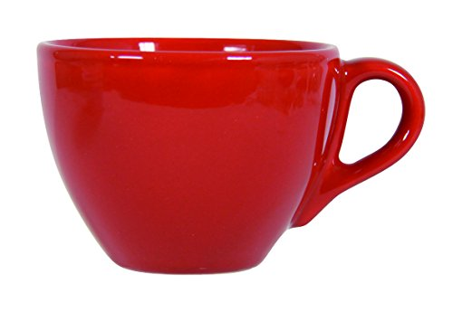 Novastyl 8010552 Lot de 6 Tasses 20 cl Faience Rouge Ibiza