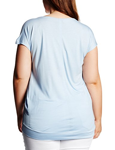 Triangle by s.Oliver Im Materialmix, T-Shirt Donna Blau (dust blue 5305)