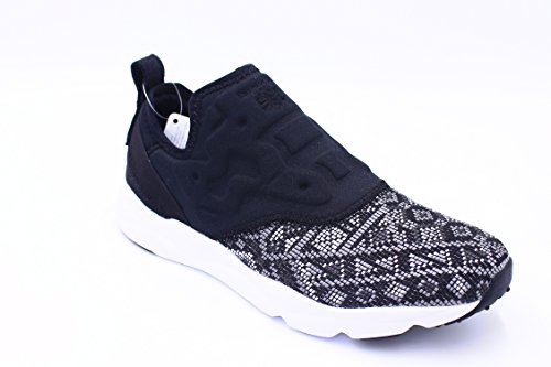 Reebok FURYLITE SLIP ON GT BD4460 sneakers donna scarpe da ginnastica elastico Nero